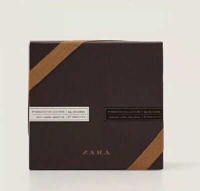 ZARA Twin Tobacco Set Rich Warm 100ml Dark Intense 100ml EDT Brand New Free Post