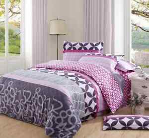 4 piece bedding set great deal twin full or queen size teen adult girl bedding ebay. Black Bedroom Furniture Sets. Home Design Ideas