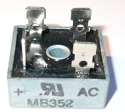 35 Amp 200 Volt Bridge Rectifier - Metal Case - 35a 200v - 1-18 Square W Hole