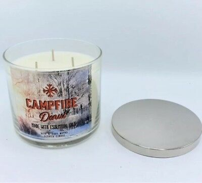 Three Wick Glass - Bath & Body Works Campfire Donut Large Glass Jar Candle Three Wick