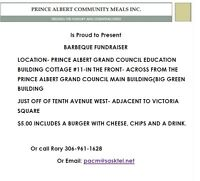 Prince Albert Community Meal Inc. BBQ- Fundraiser