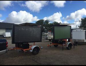 Solar Powered Hydraulic Trailer Mounted Construction Sign Regina Regina Area image 2
