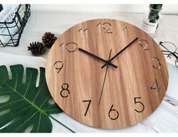 D202 Modern Style Simple Brown Mute Living Room Decoration Wall Clock 15 Inch A