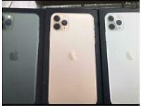 iPhone 11 Pro Max 64gb 256gb brand new box one year apple warranty