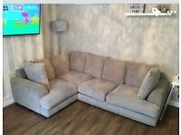 L-shaped grey sofa in great condition