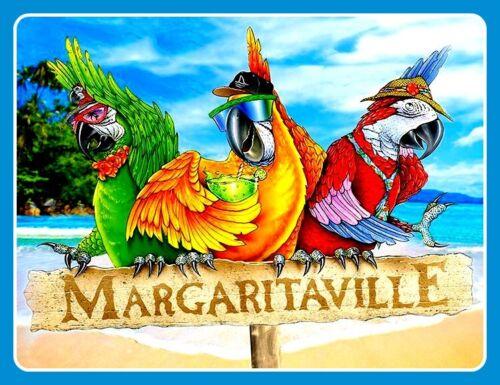 "4.75"" Jimmy Buffett Margaritaville vinyl sticker. Parrot Head decal for laptop."