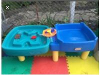 Little tikes water & sand pits with toys