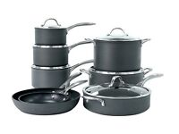 Mostly new, fantastic, non-stick, 8-piece cookware set