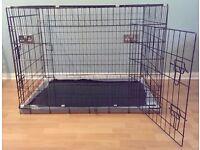 "Dog Crate / Puppy Cage 42"" Extra Large ( XL ) Black With Metal Tray NEW"