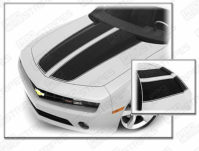 Chevrolet Camaro Rally Sport Stripes Hood & Trunk Decals 2010 2011 2012 2013