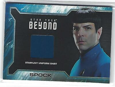 2017 Rittenhouse Archives Star Trek Beyond Spock Starfleet Uniform Shirt Relic