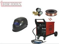 SEALEY MIGHTYMIG170 170A MIG WELDER & MB14 EURO TORCH + AUTO-DARKENING HELMET