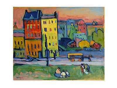 Kandinsky Häuser in München Poster Kunstdruck Bild 50x70 cm Kostenloser Versand