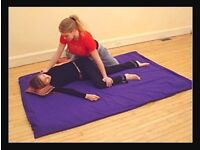 Shiatsu/yoga/massage padded therapy mat blue