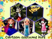 Cartoon costume hire birthday party wedding mascot hire