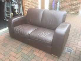 brown settee in v.g.c as new selling as moved and got no room for it
