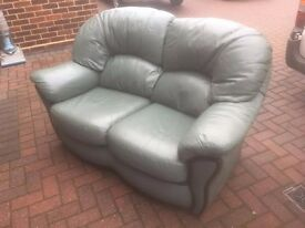 green leather settee in vgc ive moved and now have no room for it pick up only