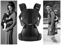 BABYBJORN CARRIER ONE WITH ORIGINAL BABYBJORN WEATHER COVER