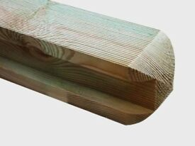 Timber Slotted Fence Post Pressure Treated From £15.45 All Sizes Inters Ends & Corners 0161 962 9127