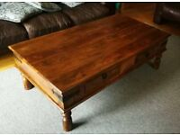 JOHN LEWIS MAHARANI FOUR DRAWER COFFEE TABLE