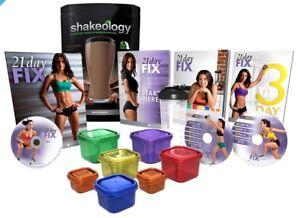 Shakeology, 21 Day Fix & contenants