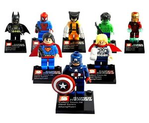 8-Sets-lot-Super-Heroes-Series-Minifigures-Blocks-Toy-Avengers-Souptoys-Gift
