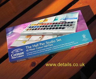 Winsor and Newton Cotman Watercolour 45 half pan Studio Set