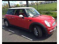 Red Mini Cooper 2002