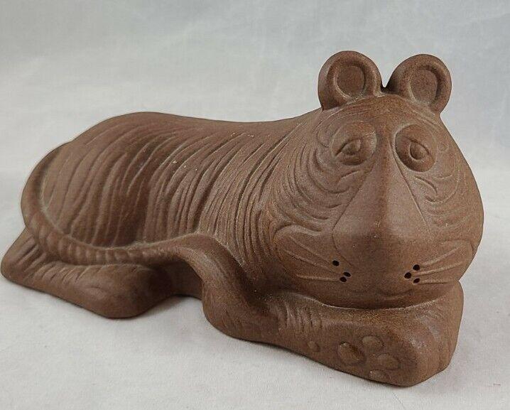 Redware Bisque Tiger Figurine