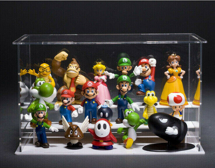 18 pcs Super Mario Bros Toy Figures Set Luigi Toad Yoshi Cake Toppers Party Gift Action Figures