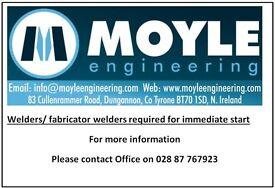 Fabricators/ welders wanted