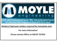Fabricators/ welders wanted