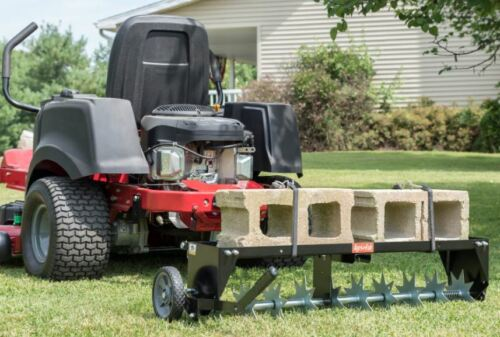 Heavy Duty Tow Behind Lawn Grass Spike Soil Aerator Universal Hitch for Tractor