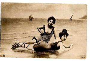 WOMEN - FEMMES - DONNE IN COSTUME DA BAGNO VG 1910 FP - C453 - Castelfranco Emilia, Italia - WOMEN - FEMMES - DONNE IN COSTUME DA BAGNO VG 1910 FP - C453 - Castelfranco Emilia, Italia