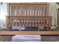 Solid pine king size bed