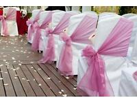 **SALE**BANQUET 40P LYCRA CHAIR COVER HIRE**- Nationwide delivery - FREE TABLE RUNNERS***