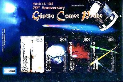 GIOTTO COMET PROBE M/S  DOMINICA 2006 ASTRONOMY & SPACE  MNH  UNMOUNTED