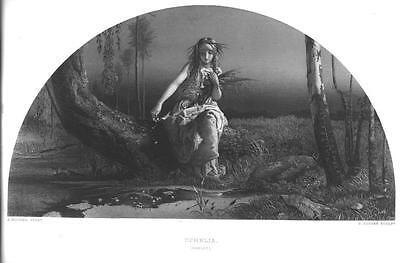 OPHELIA HAMLET William Shakespeare CLASSIC! Antique Art Print Vintage 1800s - Hamlet Costumes