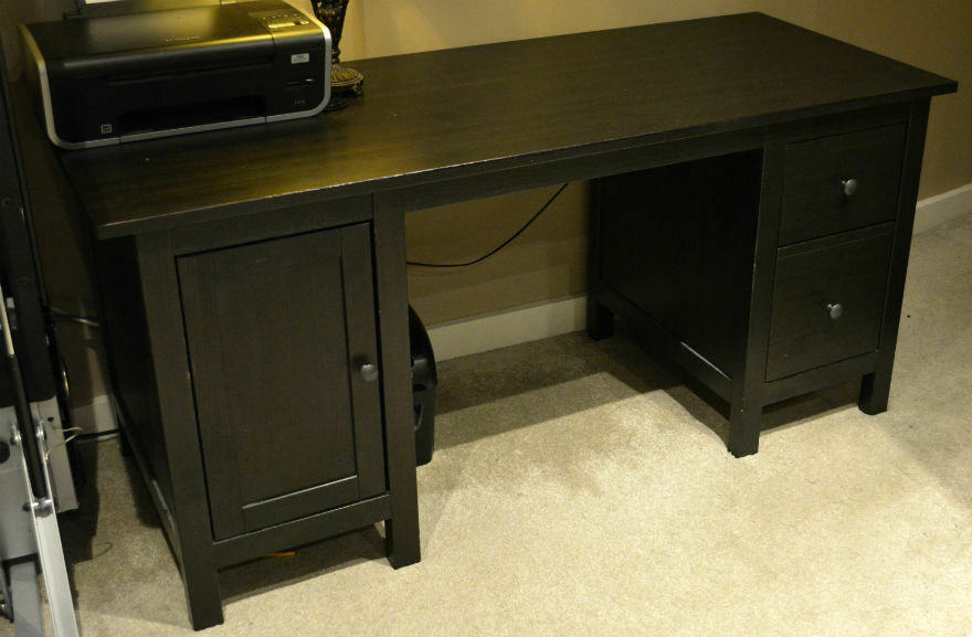 IKEA HEMNES Desk black brown u00a3100 Bargain!!! No offers in Trafford, Manchester Gumtree