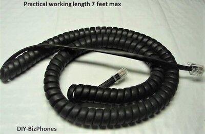 Snom Handset Cord Ip Phone 320 360 710 715 720 765 820 821 870 Black 12 Ft Curly