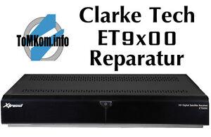 Reparatur-Pauschale Clarke Tech_Xtrend ET9200 Receiver. Wenn nur noch LED blinkt