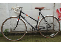 Vintage racing ladies bike PEUGEOT hand built frame size 20in - 5 speed , comfy saddle , serviced
