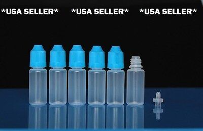 10 Pcs 10ml Empty Dropper Squeezable Plastic Dropper Bottles Eye Dropper Bottle