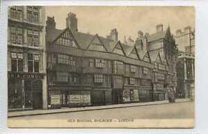 Ln289-100-Old-Houses-Holborn-LONDON-c1910-Unused-VG