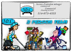 Service d'entretien ménager commercial- Commercial Ouest Island