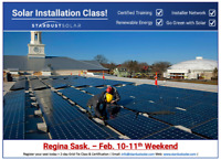 Solar installation class including certification - Wknd Feb 10th