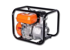 Wasserpumpe, Benzin 4-Takt Motor mit 5,5 PS, 500 l pro Minute, Laufzeit 8h
