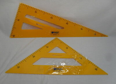 Lot of 2 Classroom Products Chalk / Dry Erase Triangles 45 and 30/60 Degree - Classroom Products