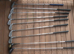 Lot of 9 Right-Handed Golf Clubs-Used/Good condition
