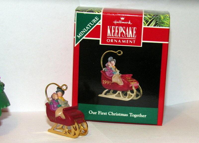 Hallamrk Keepsake Miniature Our First Christmas Together Miniature Ornament 1991